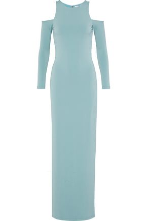 ALICE + OLIVIA Dawna cold-shoulder crepe gown