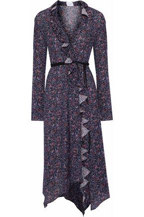 MAGDA BUTRYM Ferrara ruffled floral-print silk crepe de chine midi dress