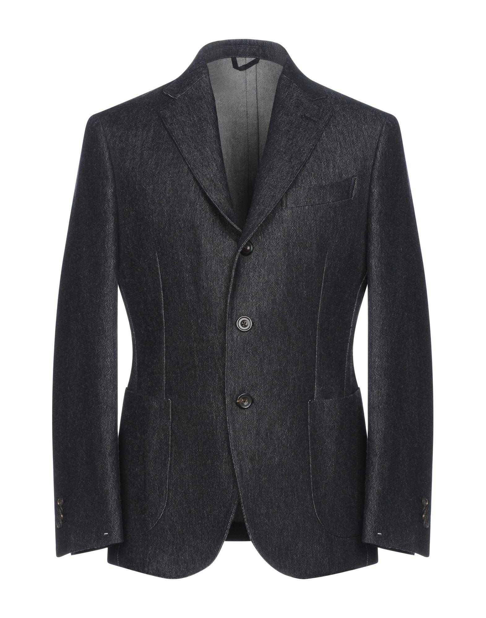 《期間限定セール開催中!》DOPPIAA メンズ テーラードジャケット スチールグレー 50 コットン 54% / ウール 46%