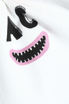 ALEXACHUNG Printed French cotton-terry sweatshirt