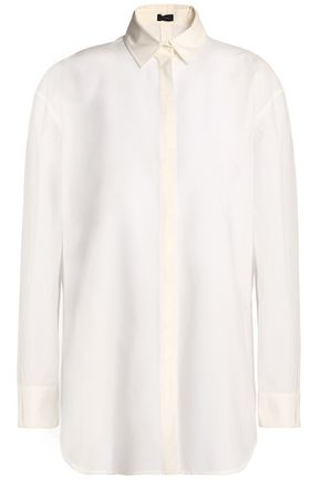 JOSEPH Silk-organza top
