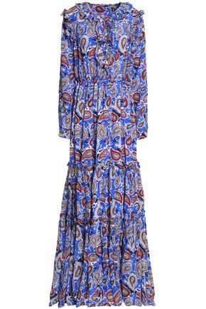DODO BAR OR Ruffle-trimmed silk-crepe de chine maxi dress