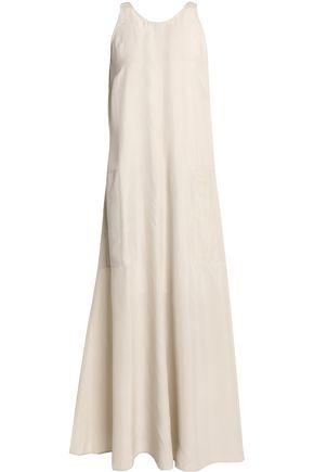 JOSEPH Grosgrain-trimmed washed-silk maxi dress