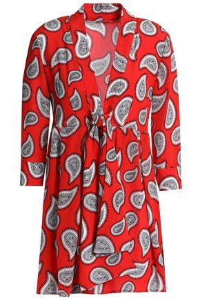 DODO BAR OR Ruffle-trimmed silk-crepe de chine mini dress