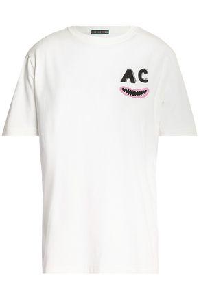ALEXACHUNG Printed cotton-jersey T-shirt