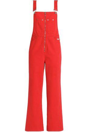 ALEXACHUNG Denim wide-leg overalls