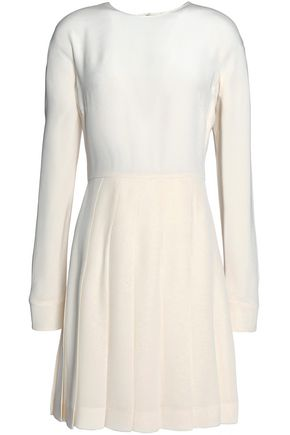 VALENTINO Pleated silk mini dress