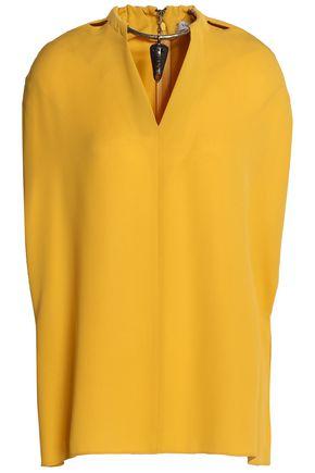 VALENTINO Embellished silk-crepe blouse