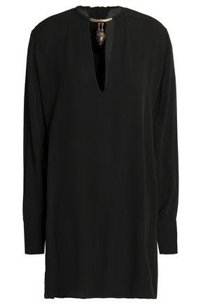 VALENTINO Embellished silk crepe de chine tunic