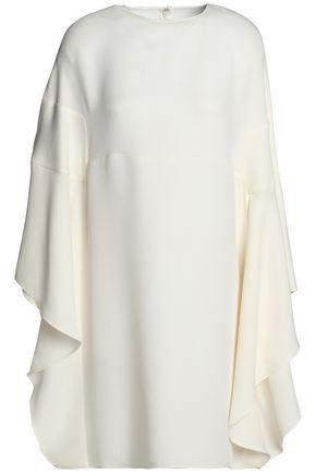 VALENTINO Draped silk-blend mini dress