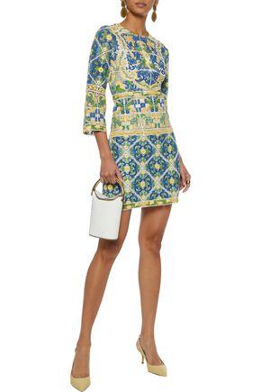 dedf413751c9 DOLCE & GABBANA Cotton-blend guipure lace mini dress