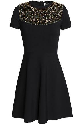 VALENTINO Studded cady mini dress