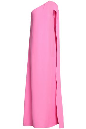 VALENTINO One-shoulder layered silk-crepe gown