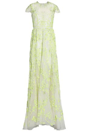 VALENTINO Embellished organza gown