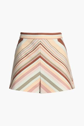 VALENTINO Printed wool-blend shorts