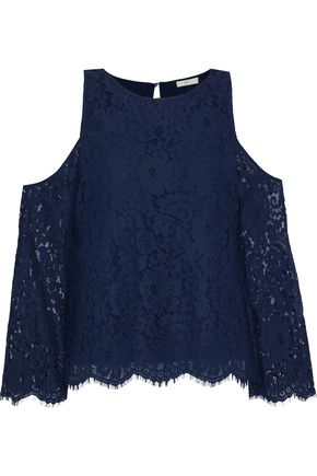 JOIE Abay cold-shoulder corded lace blouse