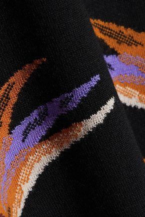 EMILIO PUCCI Jacquard-knit wool mini dress