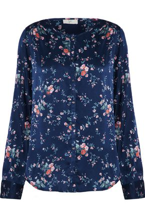 JOIE Timlyn floral-print stretch silk-satin blouse