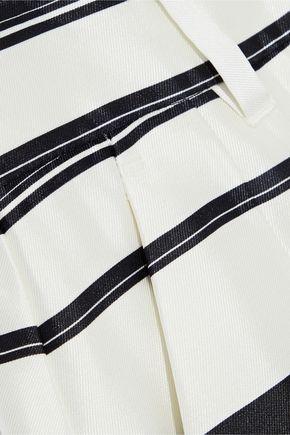 DOLCE & GABBANA Striped silk-satin twill shorts