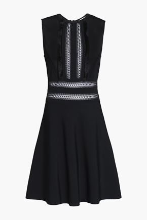 VALENTINO Flared paneled knitted mini dress