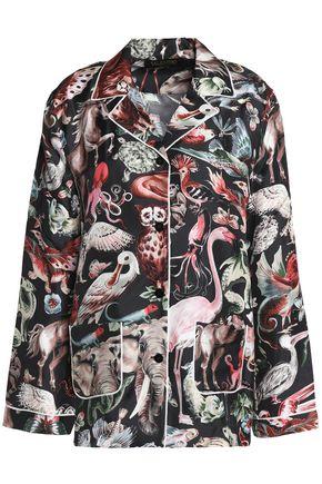 VALENTINO Printed silk-twill top