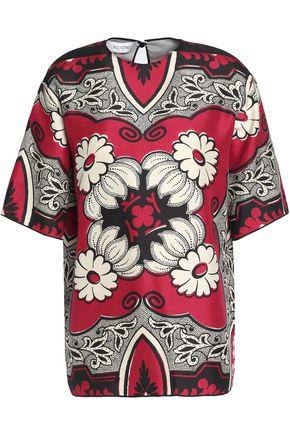 VALENTINO Printed silk crepe de chine top