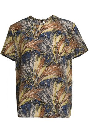 VALENTINO Printed silk crepe de chine top