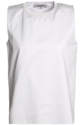 VALENTINO Cotton-poplin top
