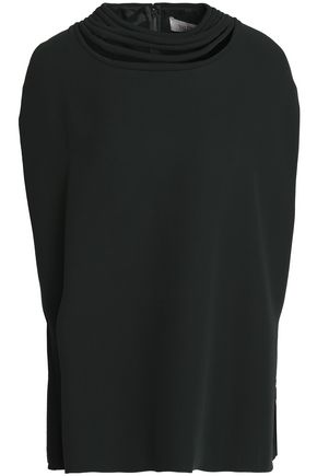 VALENTINO Silk-crepe top