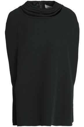 VALENTINO Appliquéd silk-crepe top
