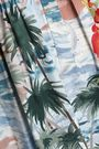 VALENTINO Embellished printed cotton-poplin mini shirt dress