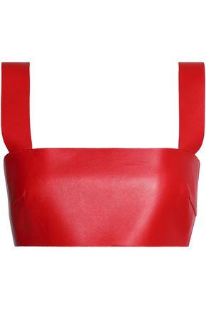 VALENTINO Leather bra top
