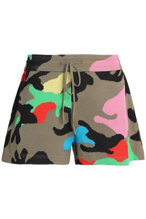 VALENTINO Camouflage jacquard-knit shorts