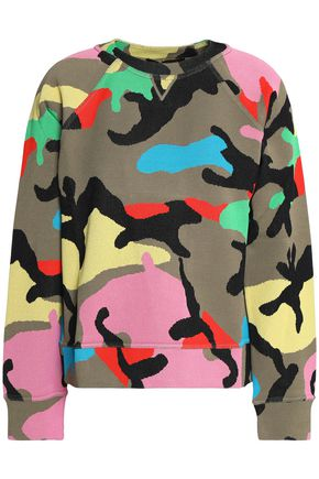 VALENTINO Camouflage jacquard-knit top