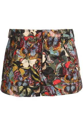 VALENTINO Printed cotton-twill shorts
