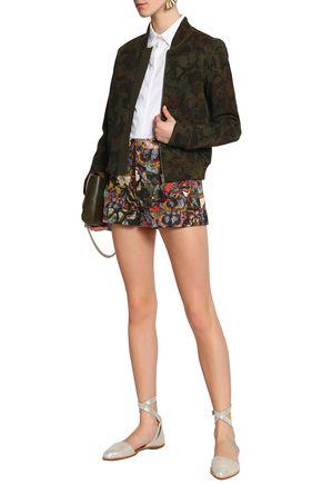 VALENTINO Printed cotton-twill shorts