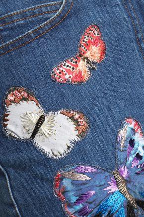 VALENTINO Embroidered denim shorts