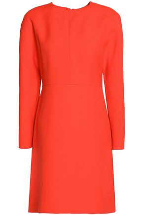 VALENTINO Wool and silk-blend crepe mini dress