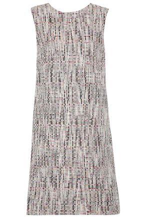 OSCAR DE LA RENTA Cotton-blend tweed mini dress