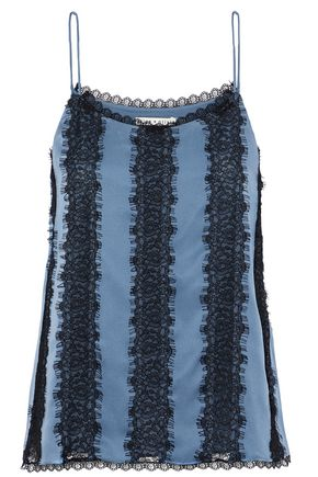 ALICE + OLIVIA Moran lace-paneled silk camisole