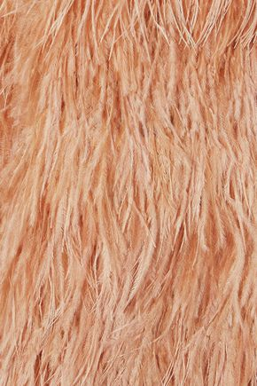 ALICE + OLIVIA Philomena feather-trimmed tulle and crepe mini dress