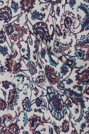 L'AGENCE Printed silk crepe de chine shirt