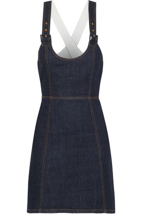 ALEXACHUNG Cutout denim mini dress