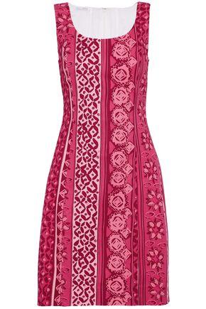 OSCAR DE LA RENTA Printed stretch-cotton dress