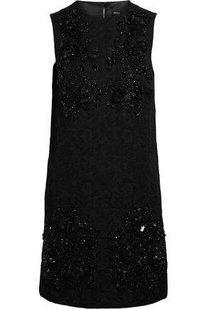 DOLCE & GABBANA Bead-embellished cotton-blend jacquard mini dress