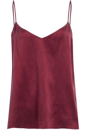 L'AGENCE Washed-silk camisole