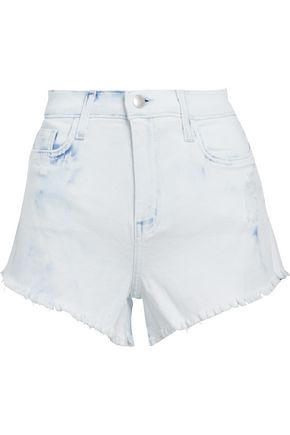 L'AGENCE Zoe distressed denim shorts