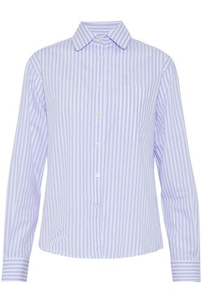WOMAN STRIPED COTTON-POPLIN SHIRT LILAC