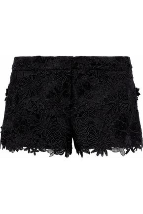 MILLY Dickies guipure lace shorts