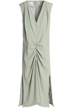 MARNI Ruched crepe midi dress